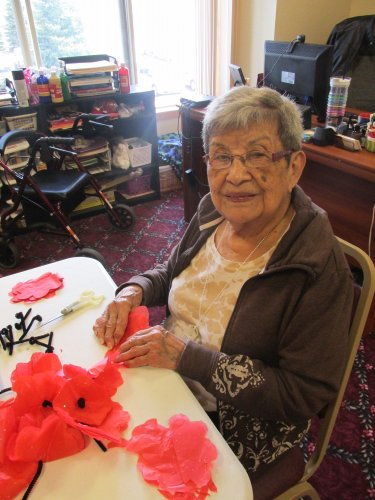 We remember,  Making Poppies for a Memorial Day Wreath