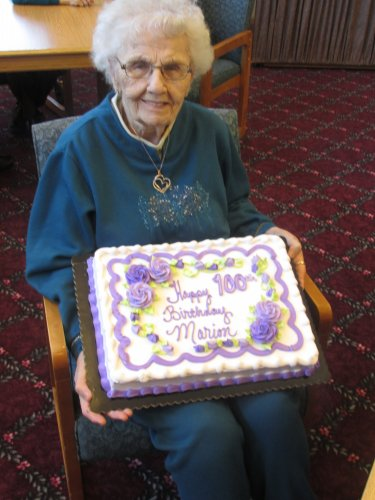 Marion Benson had her 100th Birthday this month so we celebrated her birthday