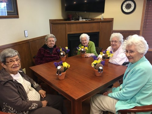 Craft group and their bunnies