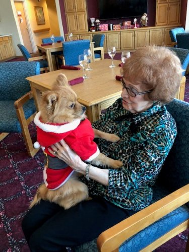 Donna & our furry Santa