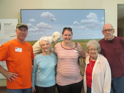 Residents from Primrose went and visited the new nature center building and had a tour.