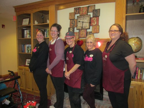 Primrose Paint the Town Pink Soup and Sandwich supper. Free Will Donation. The staff that helped Lori,Sophia,Carrie,Chrissy,and Corin