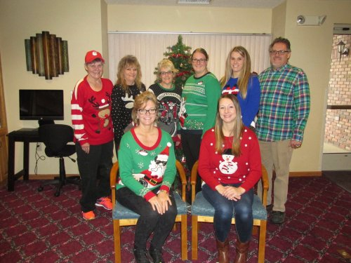 Ugly Sweater Day Staff at Primrose Austin MN 2017
