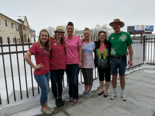 Staff and residents are wishing all this cold snow was warm sand on beach day!