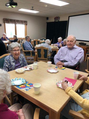 Joanne and Nils enjoying popcorn, cookies and lemonade for our longest day celebration! We had so much fun!