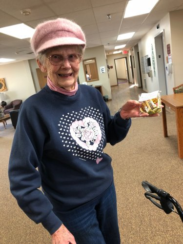 Doris found struck gold today! We had so much fun following the clues from today's treasure hunt!