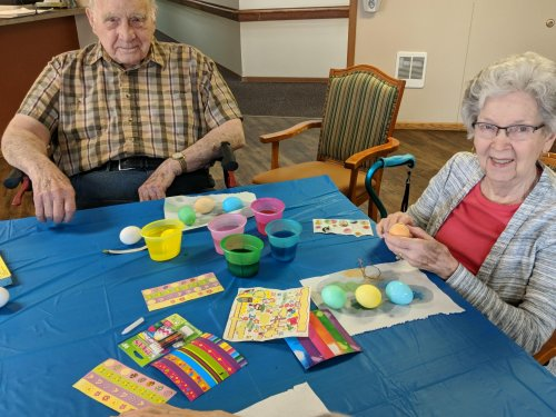 Nils and Joanne Dying Easter eggs! We had so much fun!