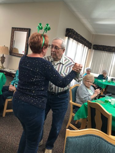 Louis and a guest dancing at the St. Patrick's Day party! We had such a wonderful time!