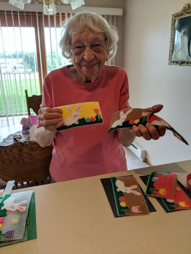Irene loves to craft so much so that she is working on Easter baskets already!