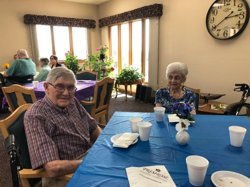 Harold and Bertha at our VIP Event! We had so much fun visiting with friends from outside of our community that we were able to invite!