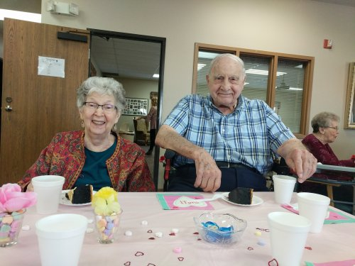 Joanne and Nils enjoying the Valentine's party together!