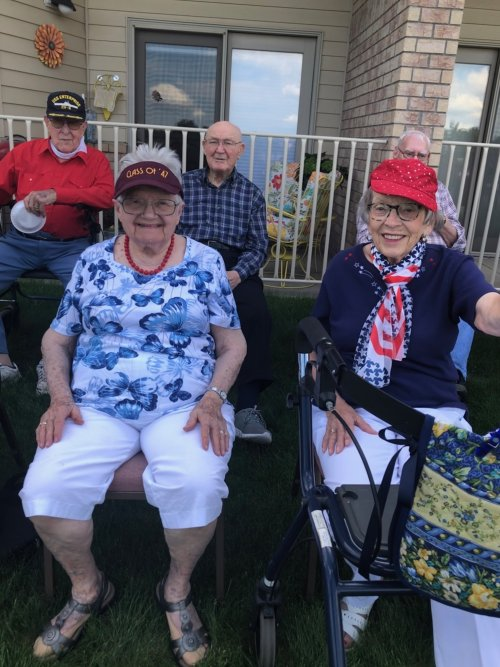 All of the residents looked so nice in their red, white, and blue to celebrate the 4th of July!