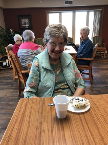 Katherine enjoying a treat at ladies hour! We had such a fun time!