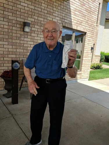 Harold is exited that he was able to get some delicious ice cream from the Ice cream truck! Yummy!