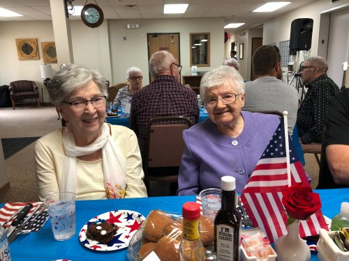 Joanne and Rachel enjoyng time with each other and family at the Fathers day social! What a great way to celebrate the men in our lives!