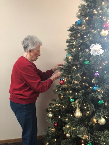 Kay does such a wonderful job of making sure all the ornaments are spread out on the tree! they turned out beautiful!