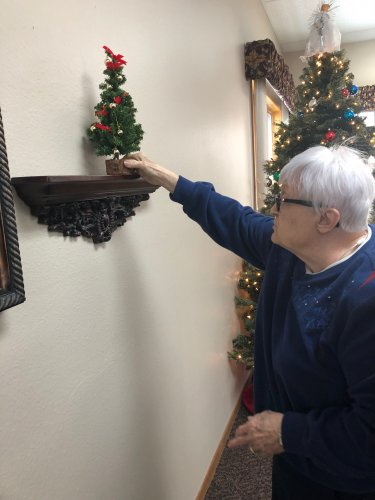 LoEtta put up the finishing touches of our Christmas decor! She has a great eye for decorating!