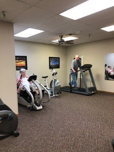 Joanne and Bob Working out in the exercise room!