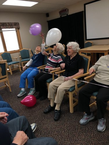 We love balloon Volleyball! It's such a great way to get our exercise in with some great friends!