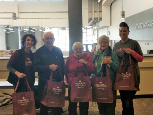 Jen (LEC), Wallace, LoEtta, DeLayne and Stef (Housekeeper) went to Bismarck State College to pass out treats for Random Acts of Kindness. We had a great time!!