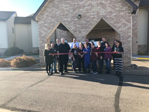 Primrose staff and Bismarck Chambers of Commerce ambassadors gathered for an ribbon cutting at our 25th anniversary celebration!