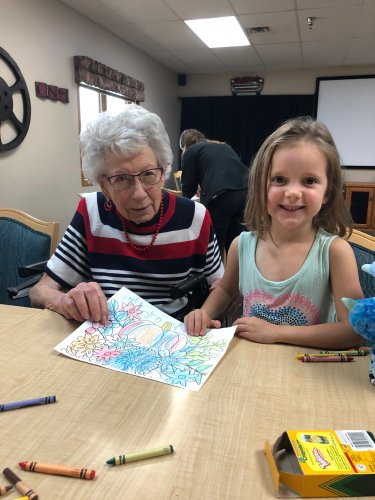 Mae and Anna colored a beautiful picture together! We had so much fun with a local preschool group this morning!