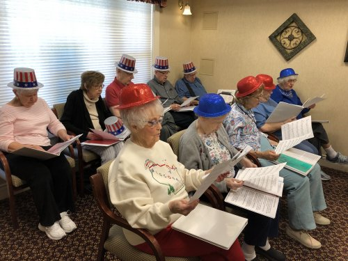 Our Primrose Choir is preparing for our 4th of July family picnic