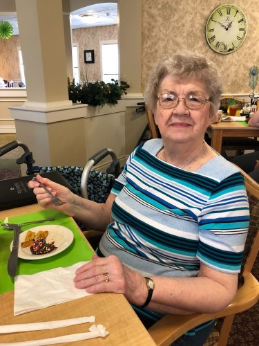 Betty's favorite part of 'Around the World Day' was indulging in the desserts, grilled pineapple and brigadeiro's quite popular in Rio De Janeiro.