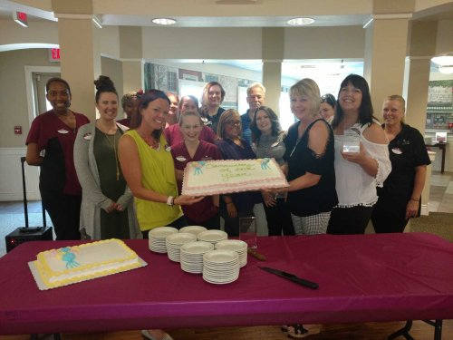 Staff and residents were celebrating their Community of the Year Award in Decatur