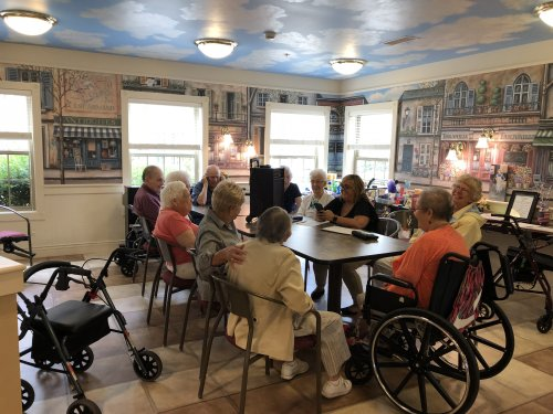 'The Longest Day' brought back lots of memories while playing some of the golden oldies during Name that Tune....You could say it was a hit with the residents!