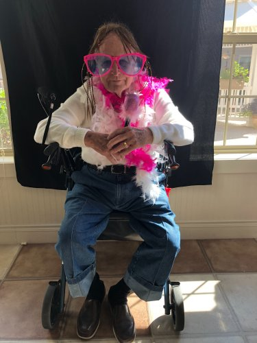 Bob was dressed to impress in the photo booth