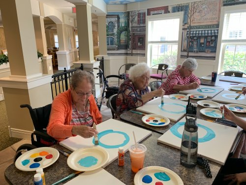 Painting is a great way to relax and unwind!