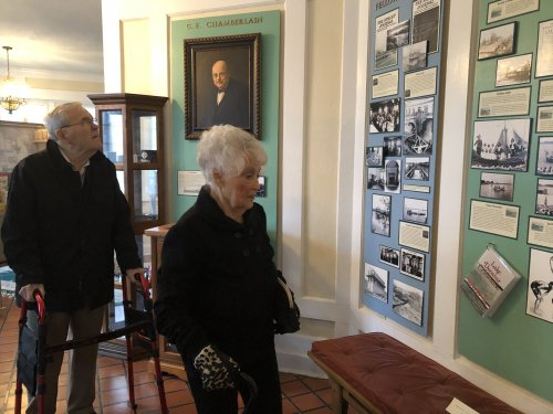 Dean and Jenni enjoying all the history at The Staley Museum