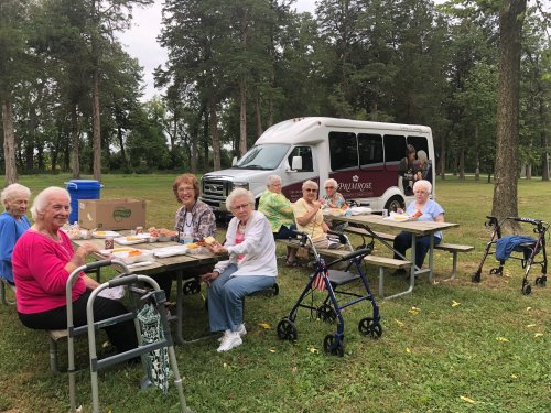 These lovely ladies enjoyed a picnic at Allerton Park