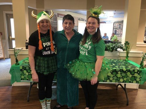 The staff even joined in on the St. Patrick's Day fun.
