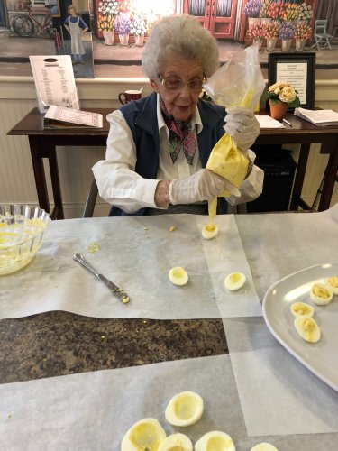 We had a hard time not eating all the eggs we made on National Deviled Egg Day
