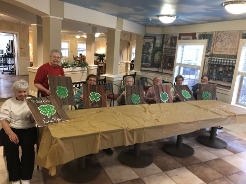 Decatur is 'Lucky' to have a Painting with a Purpose Class