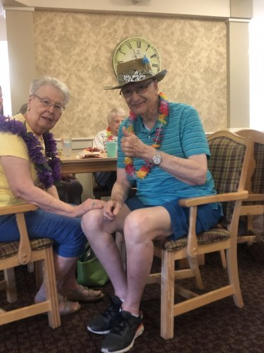 Decatur Primrose is ending the summer with a Luau