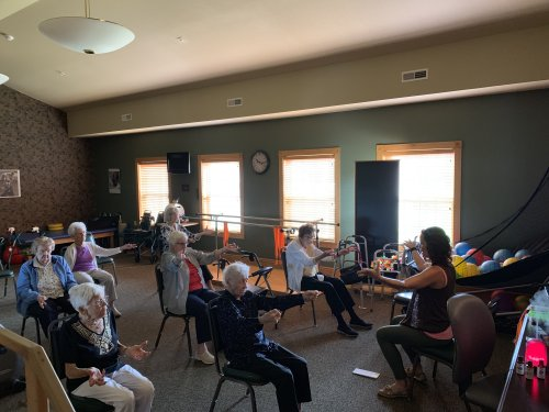 Namaste here at Primrose for Assisted Living Week