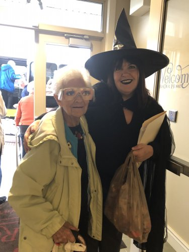 Executive Director Leslie and Waneta were in the Halloween Spirit