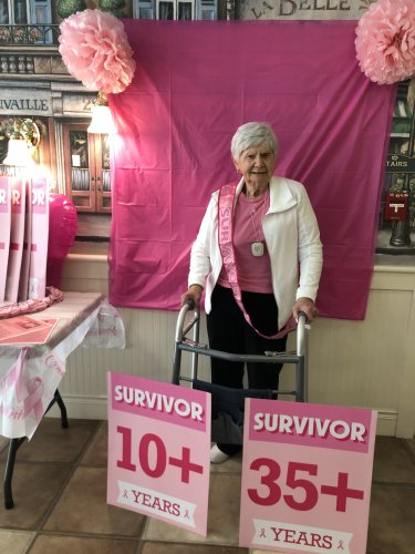 Painting Primrose Pink to Give Cancer the Boot