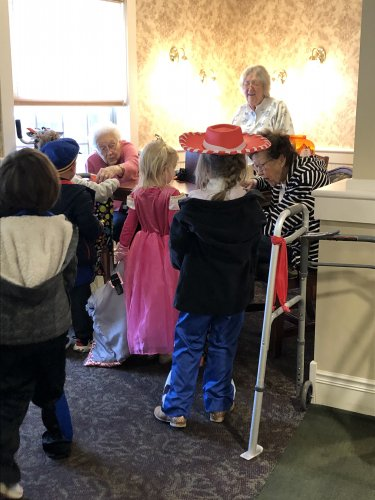 Our residents decided to give out treats to the local daycare
