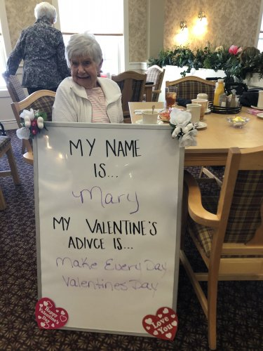 Mary thinks making every day Valentines Day is the key