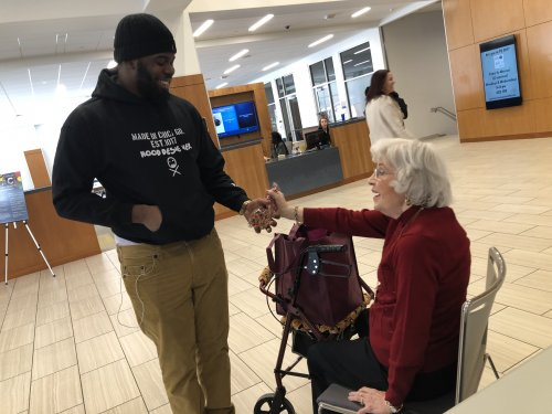 Decatur Primrose Residents went to Milikin University to hand out treat bags to the students for Random Acts of Kindness Day