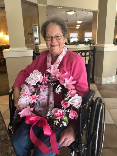 Janet made a beautiful Breast Cancer Awareness Wreath