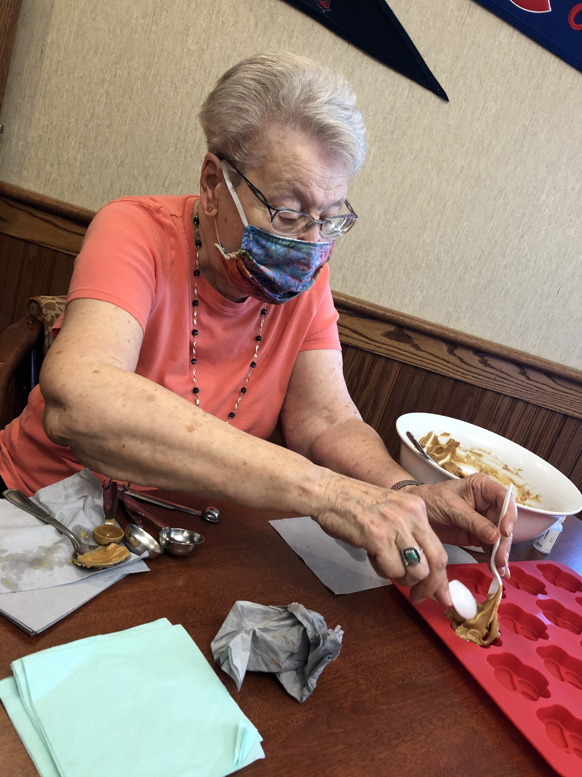 Linda whipped up some tasty treats for our furry friends at the shelter