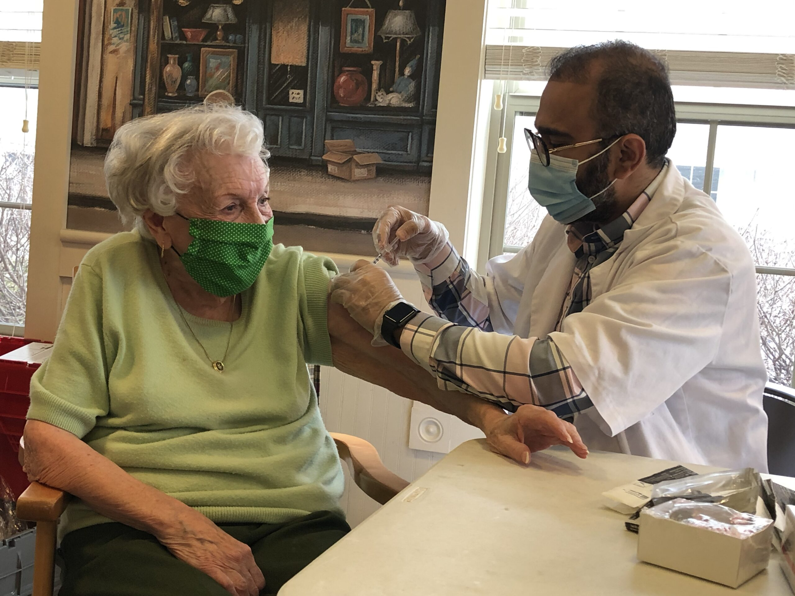Martha is 103 and getting the vaccine!