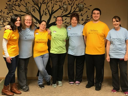 Primrose Staff wearing Capture the moments T-Shirts! Thank you Home office!