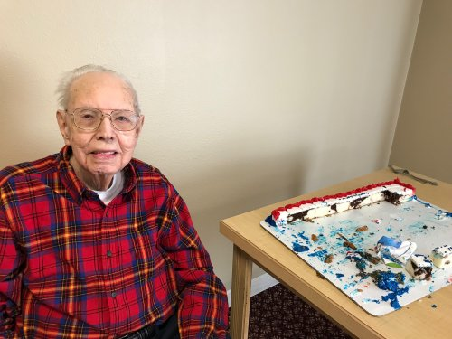 Happy 96th Birthday Arlo! From your Family and Friends at Primrose !