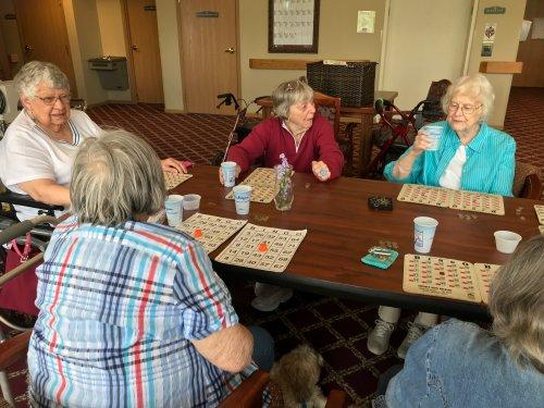 Playing Bingo with good friends!
